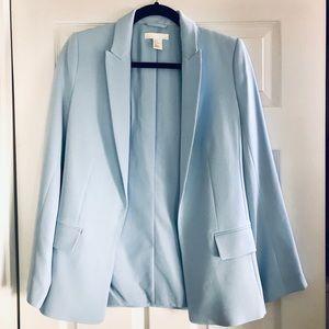 H&M baby blue blazer jacket